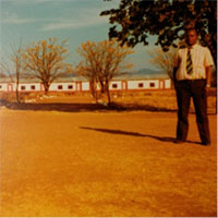 Mr. C.G. Mukamuri, headmaster of Mhototi School in 1980, our host with his wife, of Mhototi University and a constant advisor