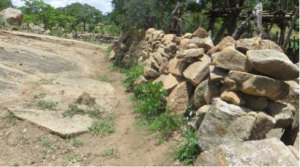 Stone wall built by the Spikita family in Madzoke in 2014 before the training.